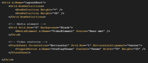 XAML Play Pause toggle button